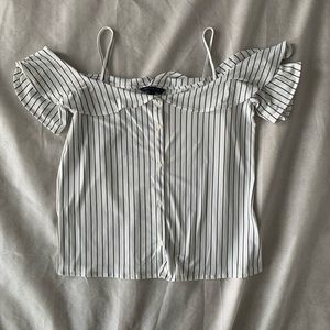 Banana Republic Striped Off-the-shoulder Blouse